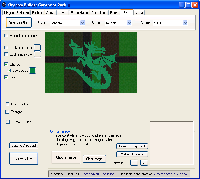kingdom builder II flag generator screenshot